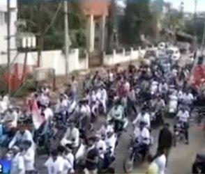 કોંગ્રેસના નેતાની 8 કિ.મી લાંબી રેલીએ વિસનગરમાં આકર્ષણ જગાવ્યું, Video
