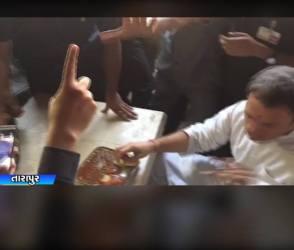 Video : રાહુલને ગુજરાતી જમણનો સ્વાદ દાઢે વળગ્યો, લારી પર ખાધા ભજીયા ને પાઉભાંજી