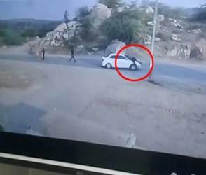 … ચાલકે પોલીસ કર્મી ઉપર ચડાવી દીધી કાર, જુઓ Video