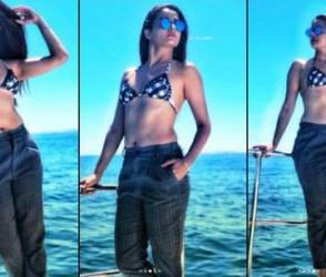 સાઉથ આફ્રિકાનાં સમુદ્ર કિનારે ટ્રાઉઝર સાથે બિકિનીમાં જોવા મળી આ અભિનેત્રી
