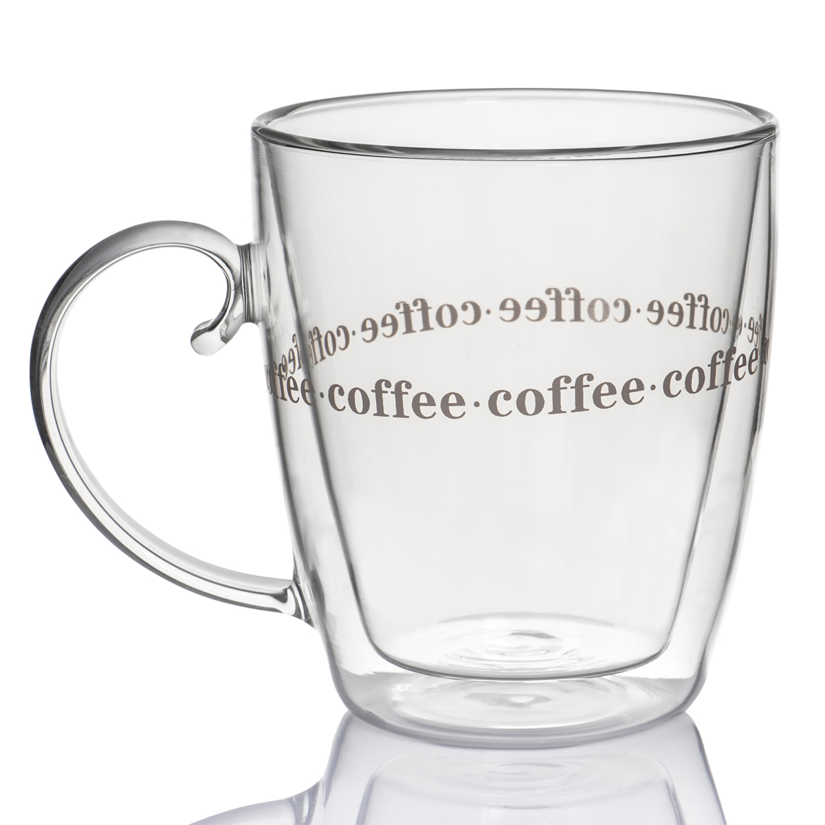 Double Handled Coffee Mugs 500ml Insulated Double Layer Thermo Wall Large Coffee Mug