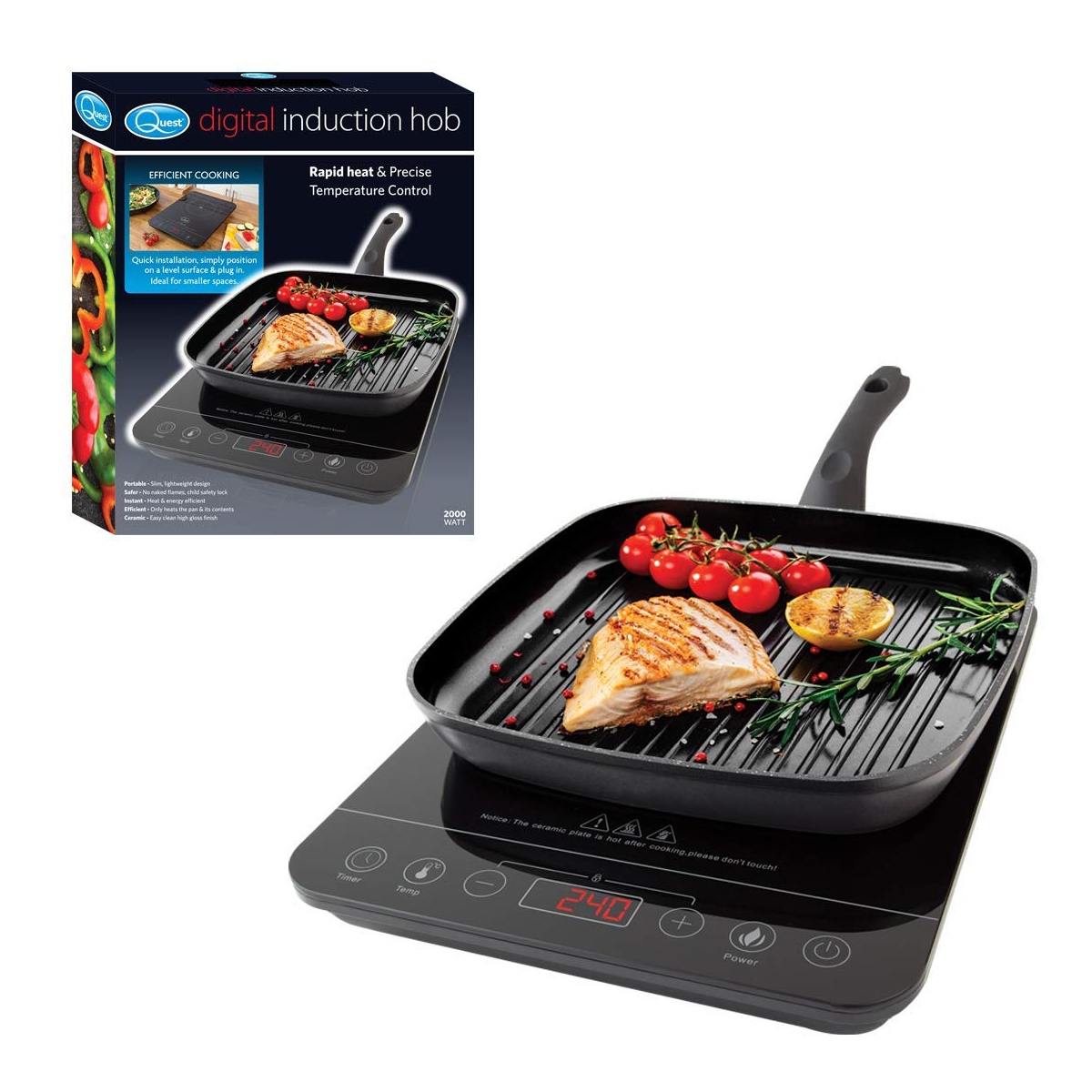 Induction Hot Plate Quest 2000w Digital Induction Hob Hot Plate With 10 Temp