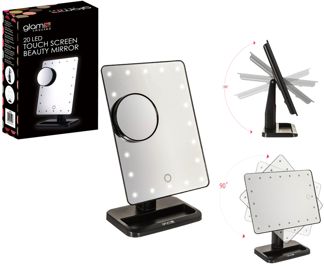 Led Beauty Mirror 20 Led Touch Screen Vanity Mirror Light Illuminated