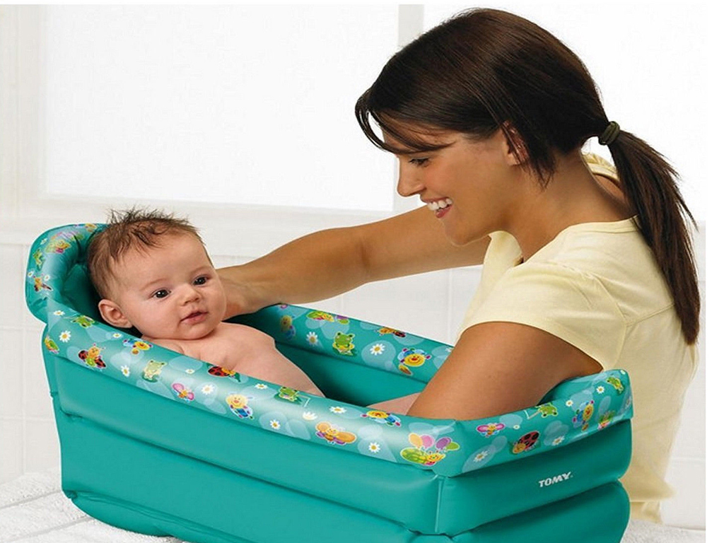 Infant Bath Time Products Details About Tomy Inflatable Travel Baby Bath Soft Tub Toddler Infant Portable Bathtime