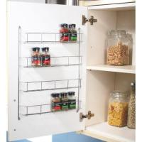 40PC CHROME 5 TIER SPICE RACK JAR HOLDER FOR WALL OR ...