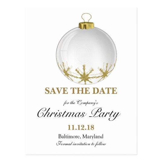 Christmas Ball Star Christmas Party Save The Date Cards \u2013 Save the