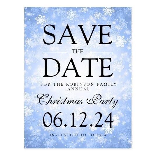Christmas Party Save The Date Winter Blue \u2013 Save the Date Cards