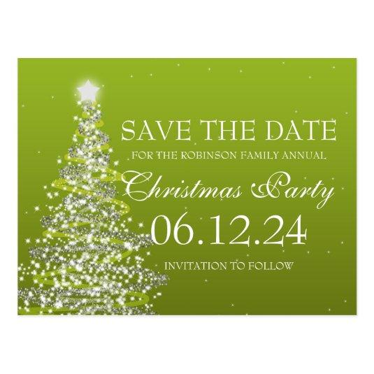 Elegant Save The Date Christmas Party Green Cards \u2013 Save the Date Cards