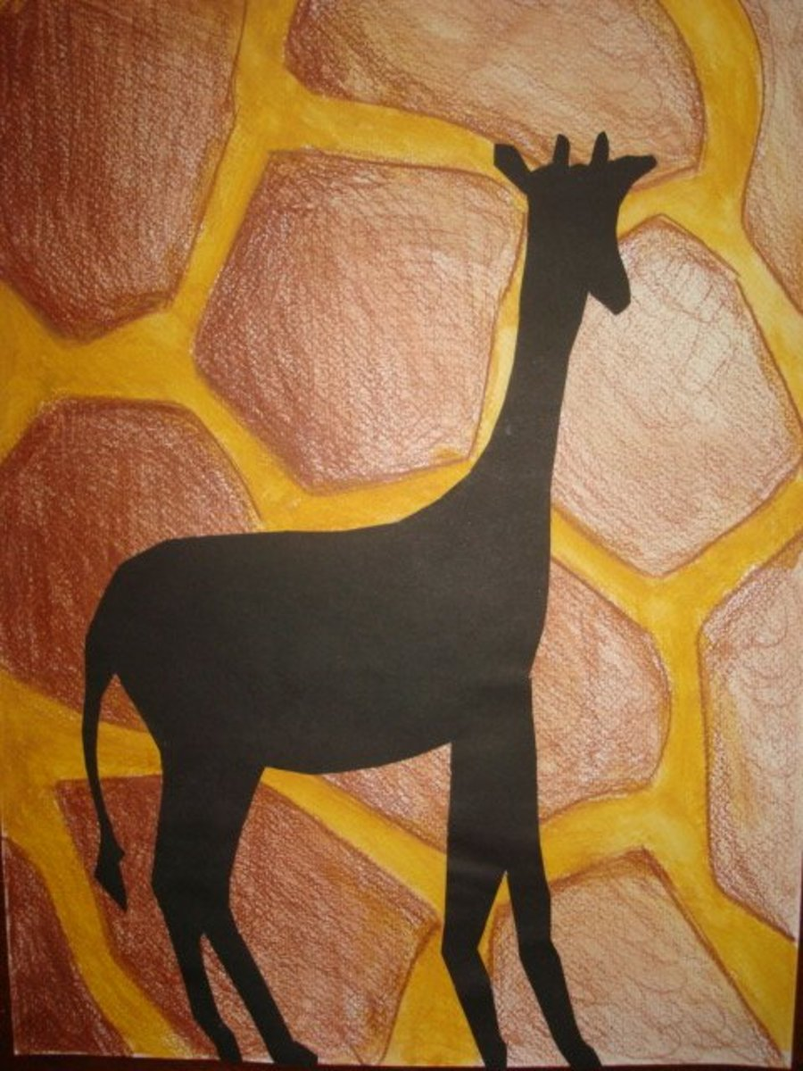 Art Lessons For Kids Animal Silhouettes And Patterns Feltmagnet Crafts