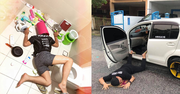 Photos Malaysians Are Pretending To Fall On The Floor In
