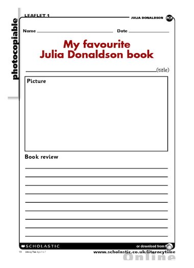 Family Calendar Cookbook Home Family Organizer More Time Moms Home Family My Favourite Julia Donaldson Book – Free Primary Ks1