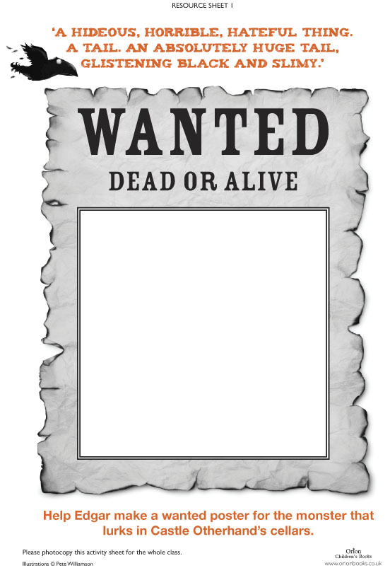 free printable wanted sign template