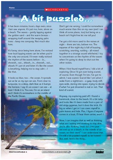 Descriptive essay ocean adventure