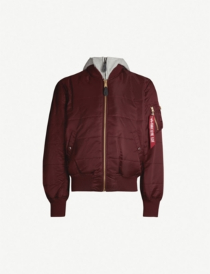 D Tec Alpha Industries Ma 1 D Tec Hooded Shell Bomber Jacket