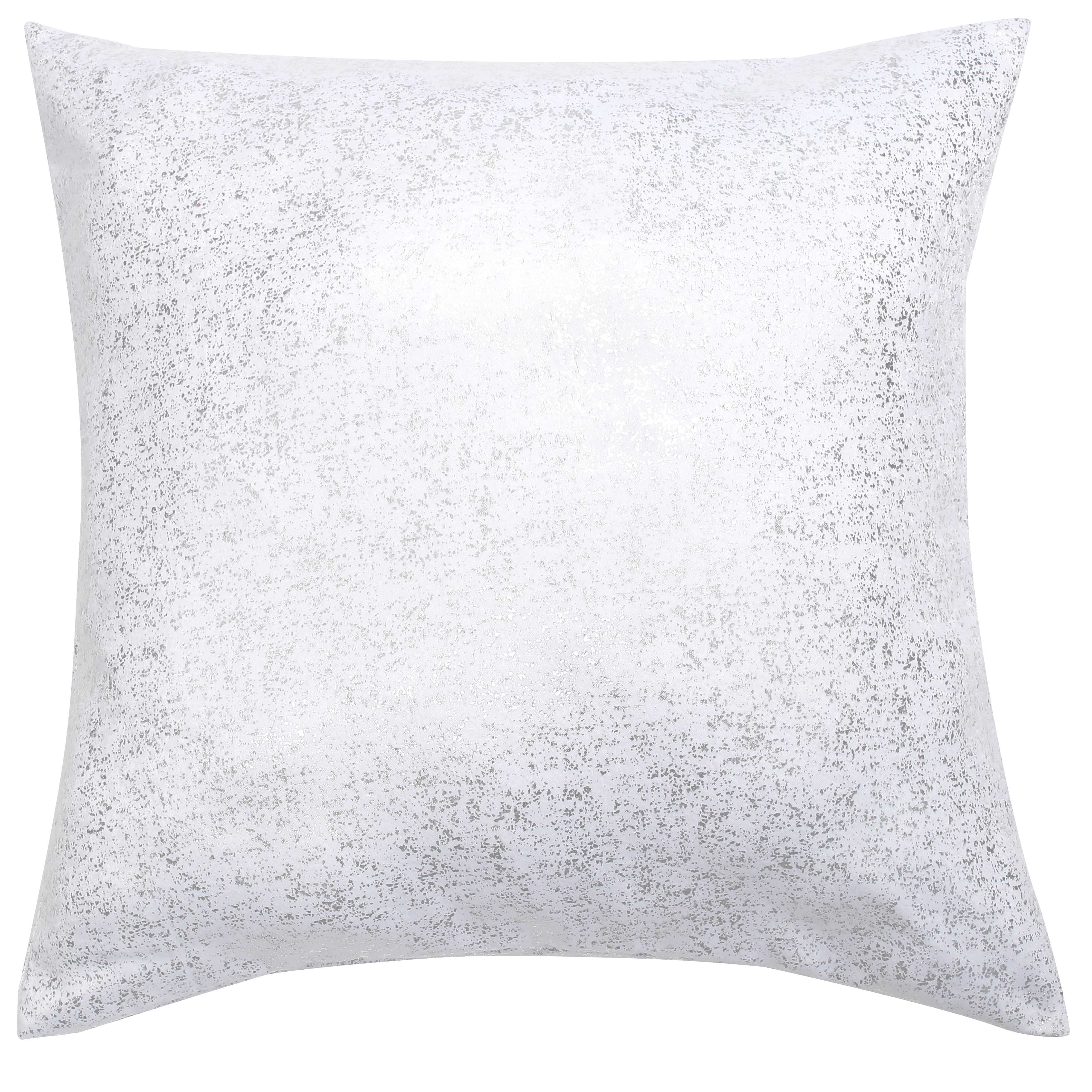 Ebay 1 Euro Details About White Single 1 Euro Square Size Pillow Sham With Metallic Accent 26in X 26in