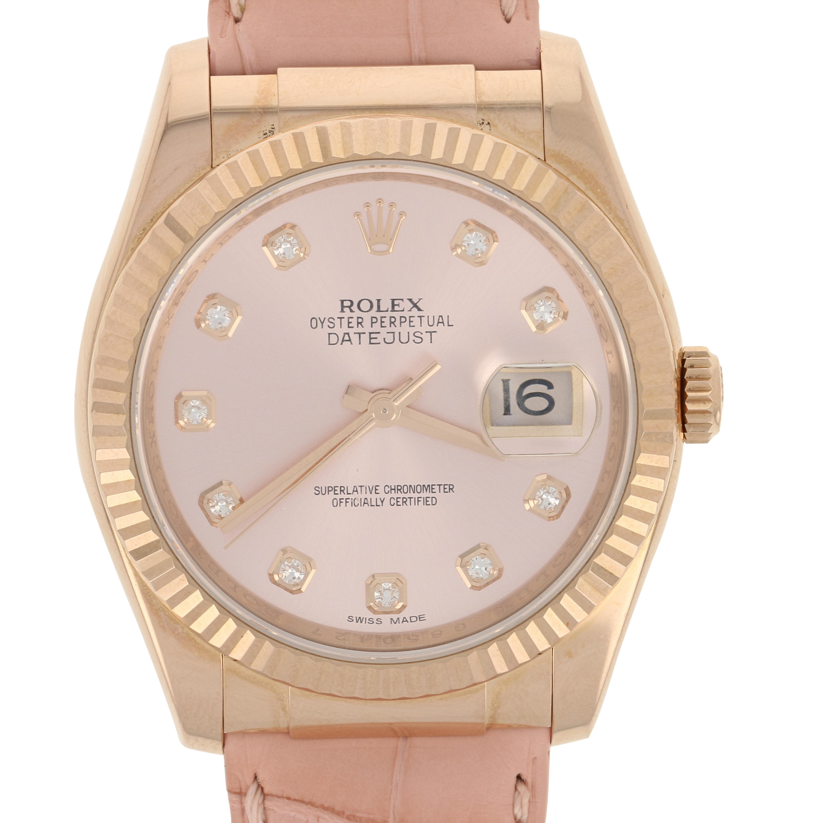 Rolex Oyster Perpetual Rose Gold Details About Rolex 116135 Oyster Datejust Factory Dial Strap 18k Rose Gold Papers Warranty