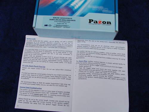 PAZON 12 volt ELECTRONIC IGNITION singles Triumph T20 /M BSA C15 B25