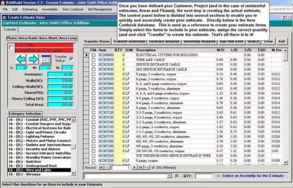 Bid4Build Construction Estimating Software - Download