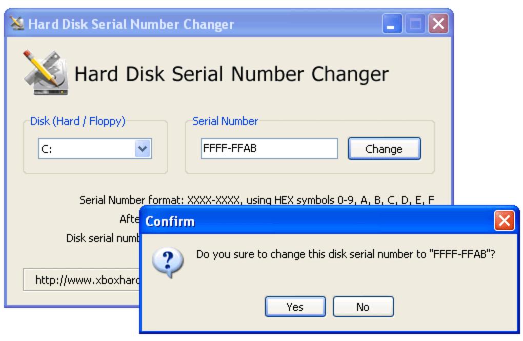Hard Disk Serial Number Changer Download