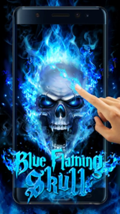Blue Fire Skull Live Wallpaper for Android - Download