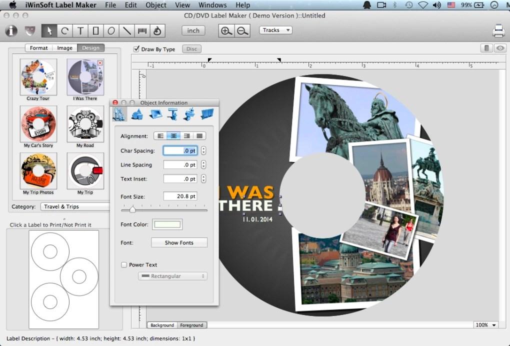 CD Label Maker for Mac (Mac) - Download - create cd labels