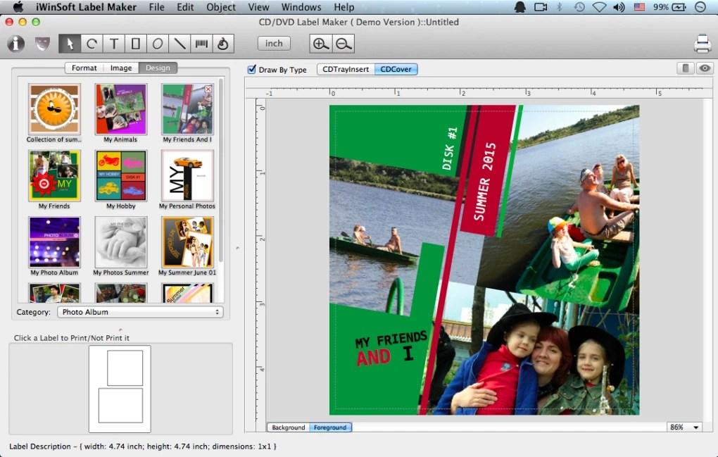 CD Label Maker for Mac (Mac) - Download