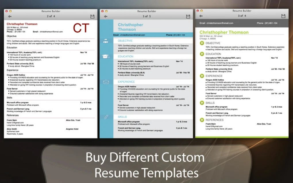Resume Builder for Mac - Download - Resume Builder Software Download