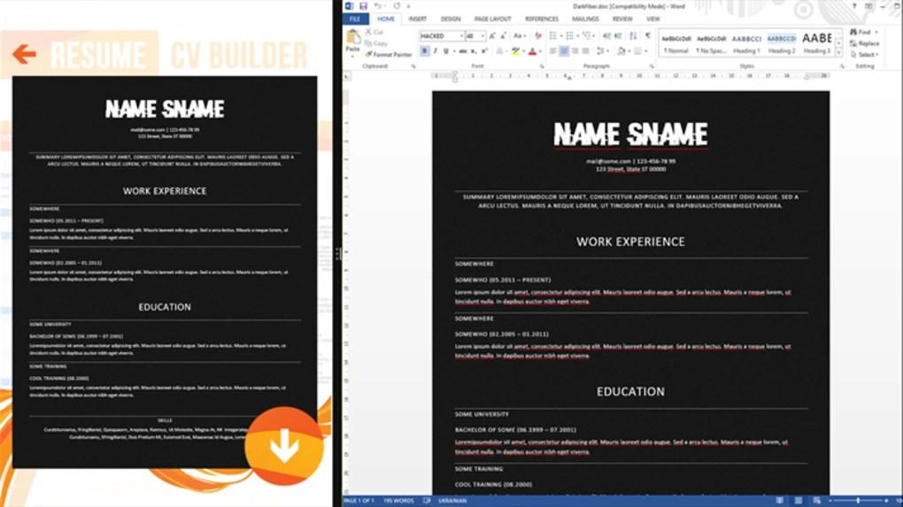 Resume CV Builder - Download