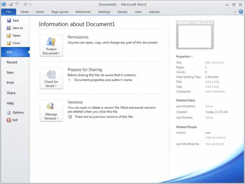 Microsoft Office 2010 - Download - microsoft word