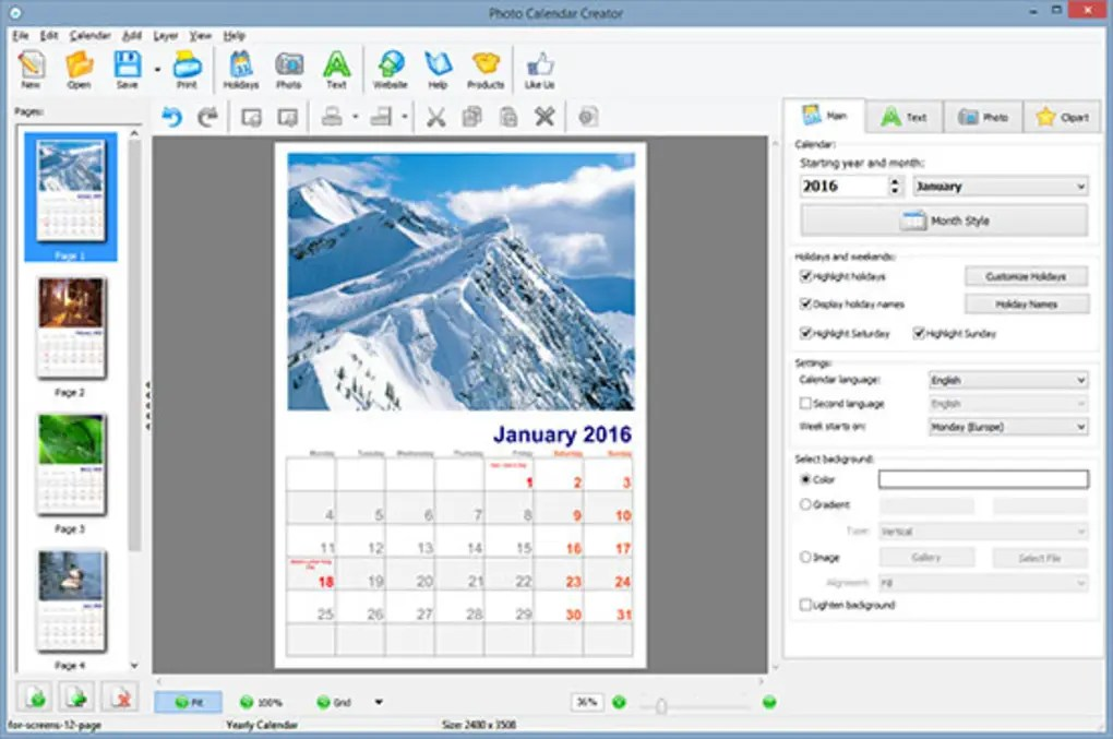 calendar creator for windows - Canasbergdorfbib