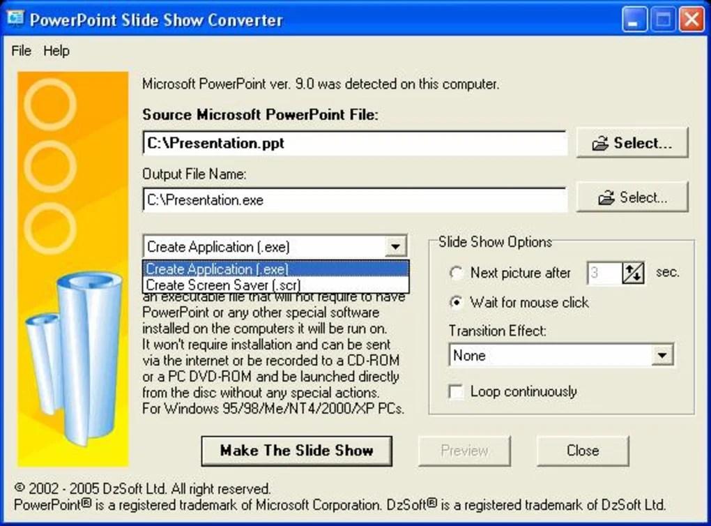 PowerPoint Slide Show Converter - Download