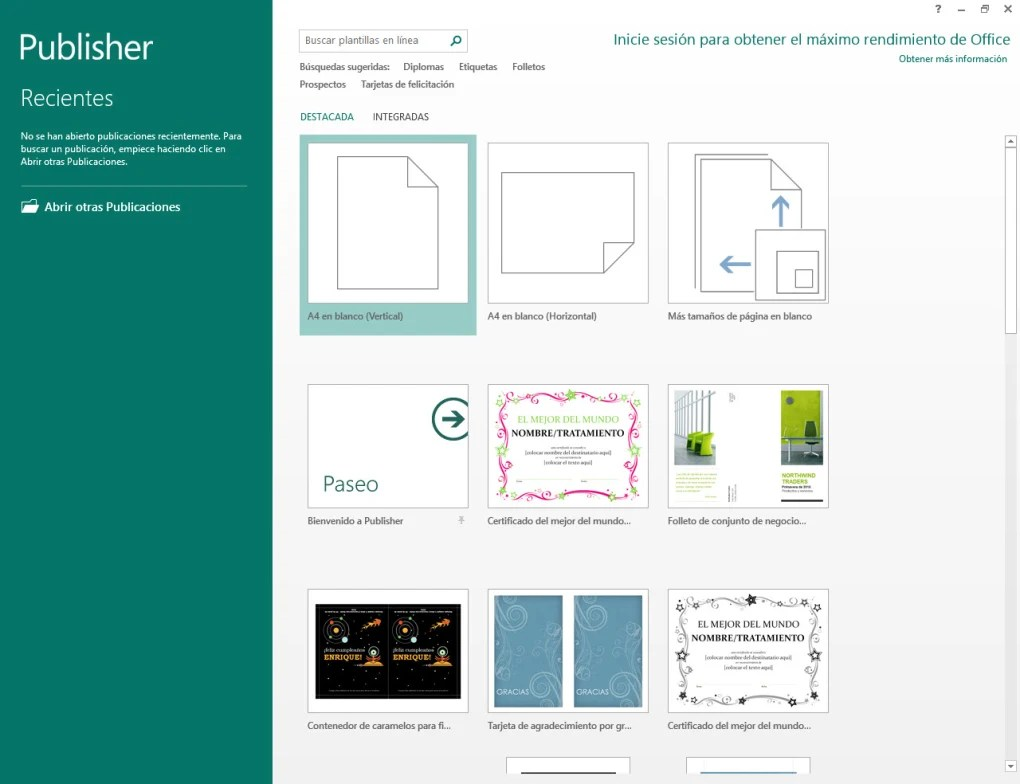 Office Publisher Microsoft Publisher 2013 Descargar