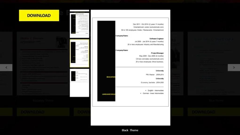CV Resume Builder - Download
