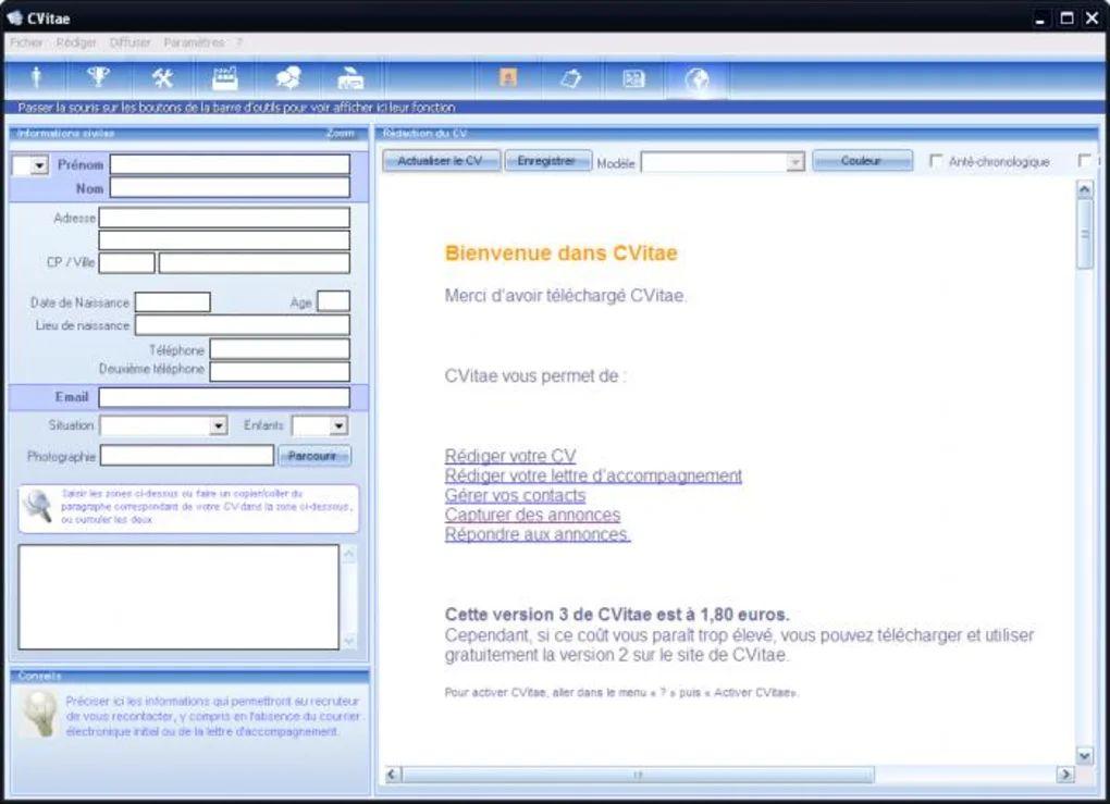 logiciel creation cv mac
