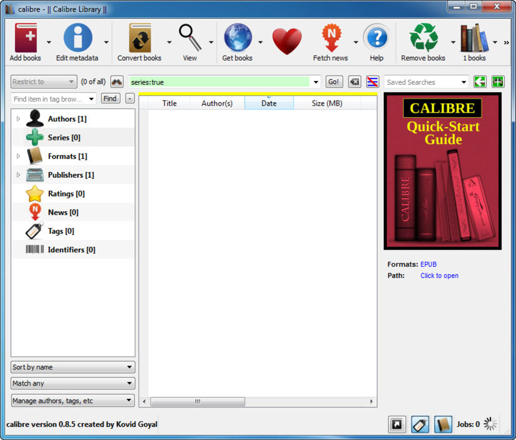 Programa Calibre Calibre Portable - Download