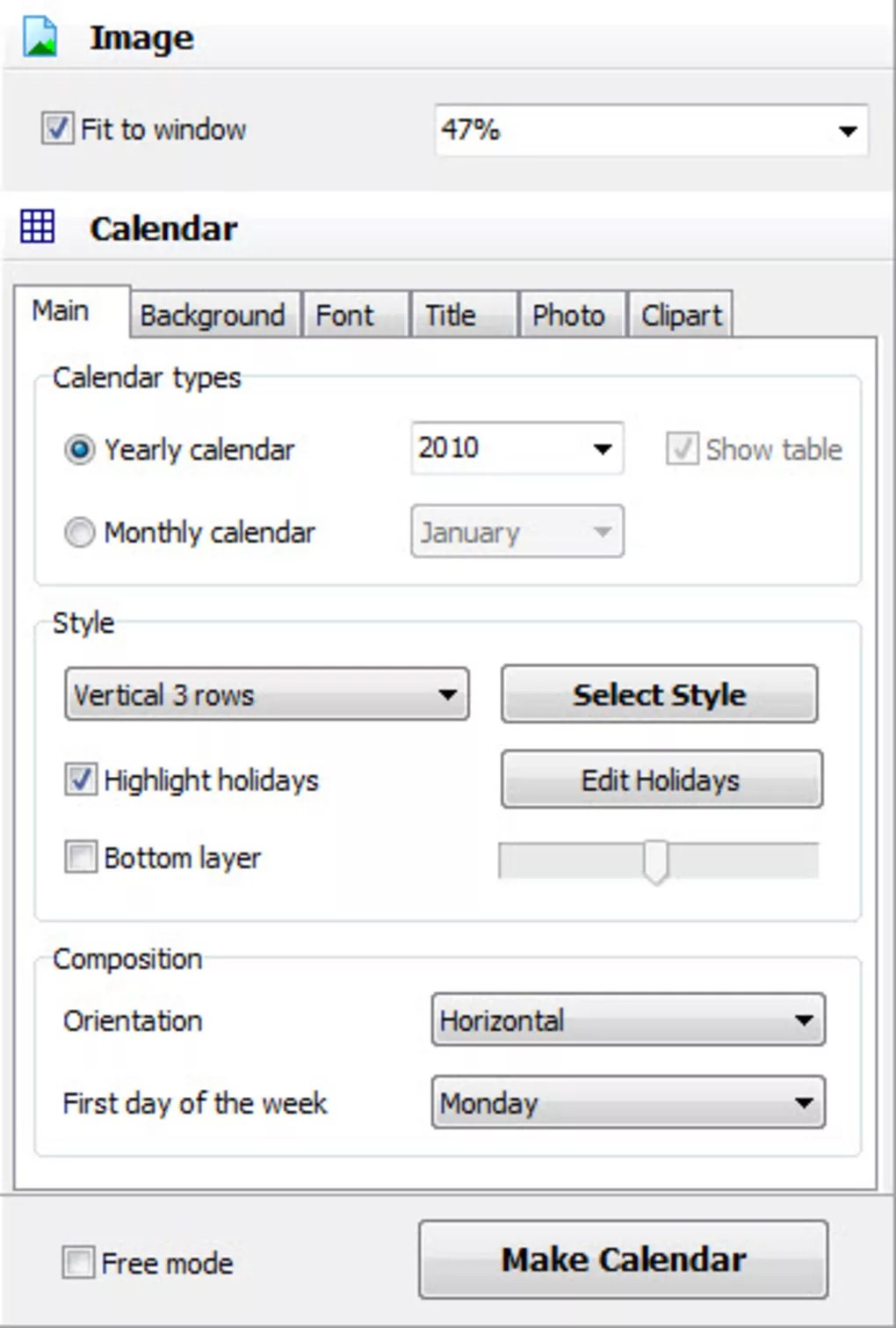 Faire Un Calendrier Photo Calendar Maker Télécharger
