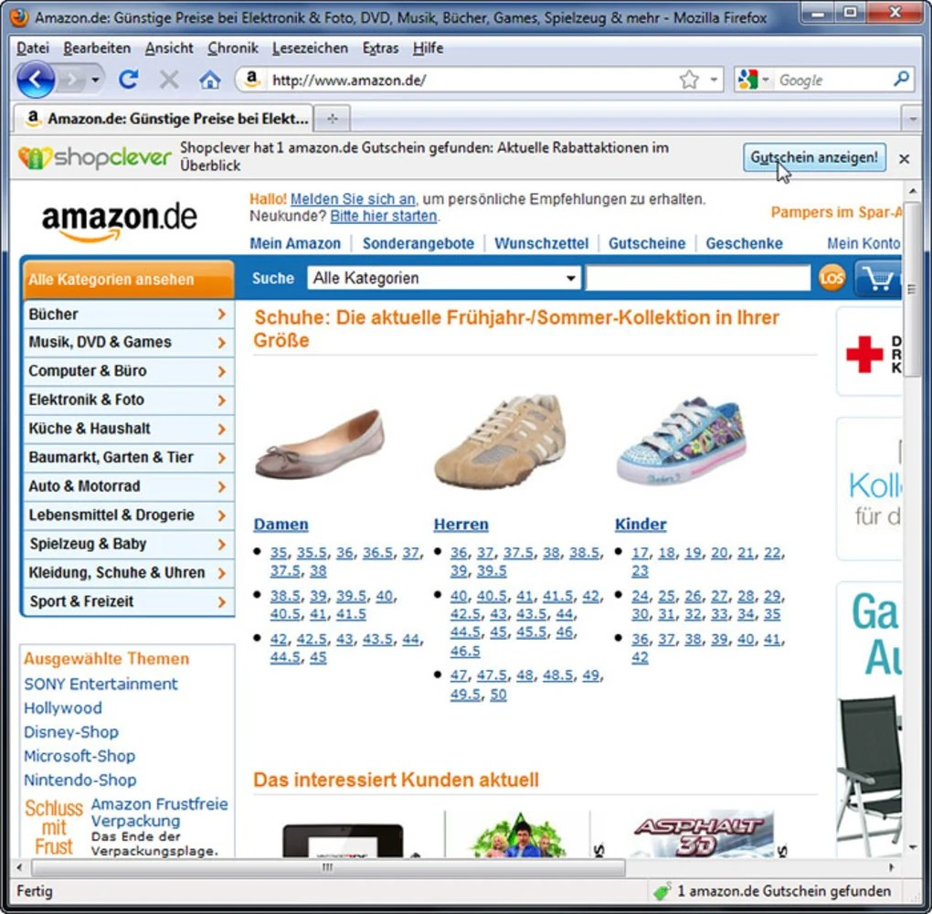 Amazon Gutschein Garten Shopclever De Gutschein Add On Download