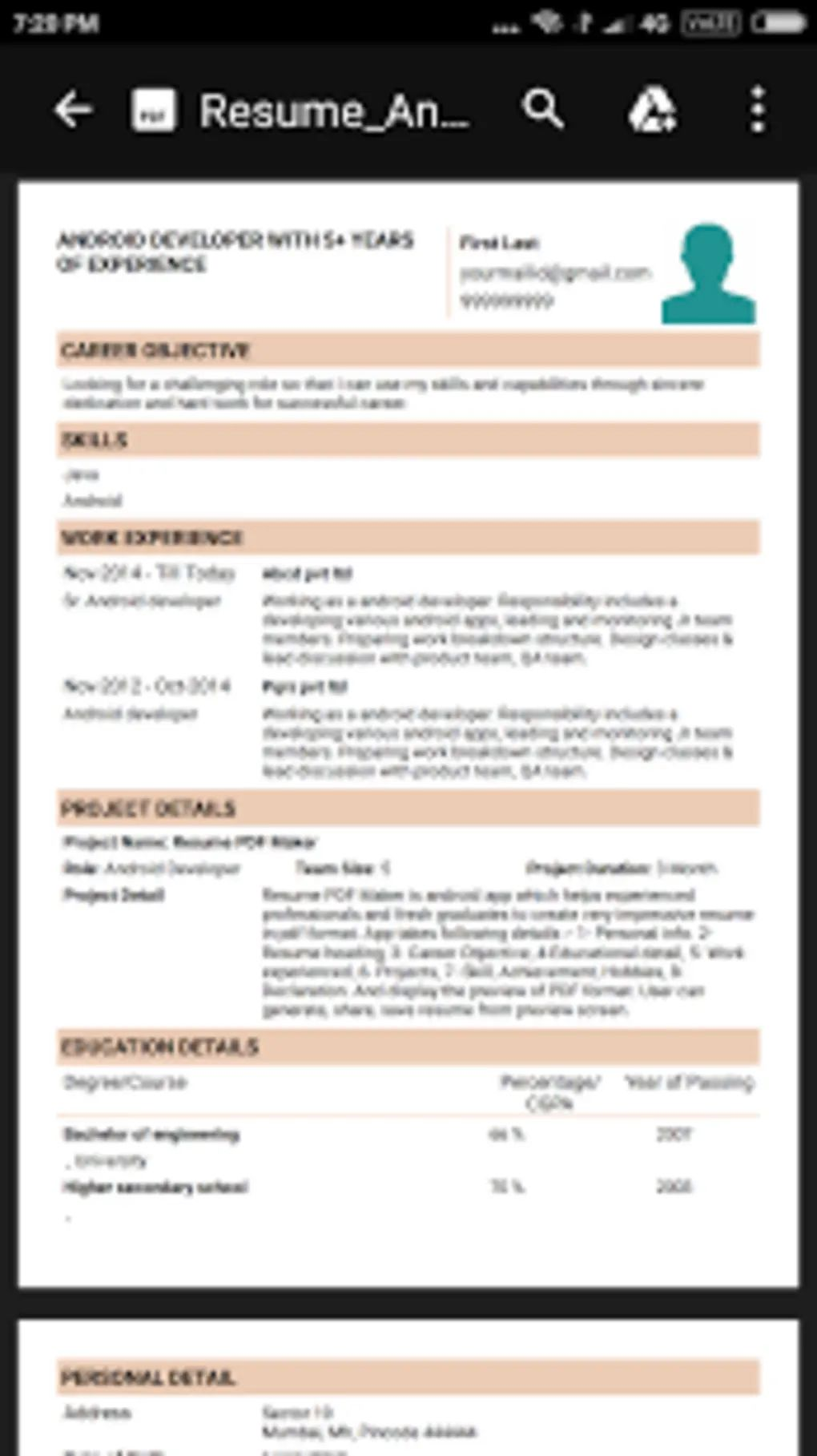 how to create a cv resume for job