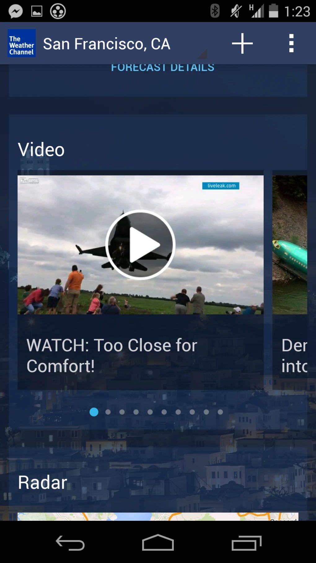 weather channel app won't download