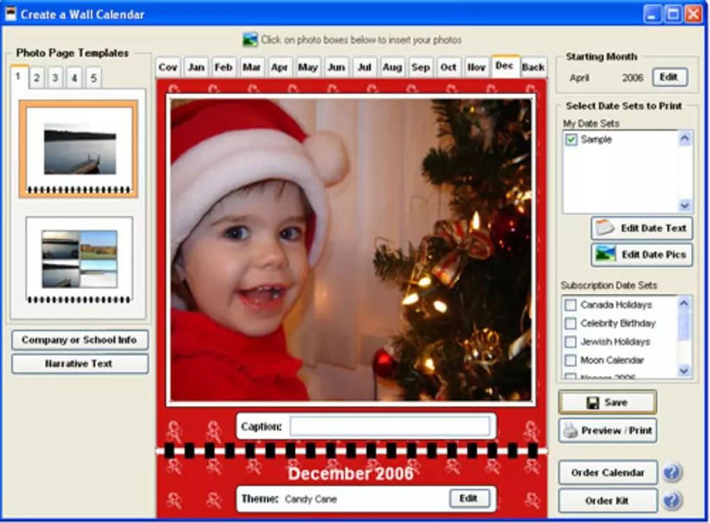 EZ Photo Calendar Creator - Download - school calendar creator
