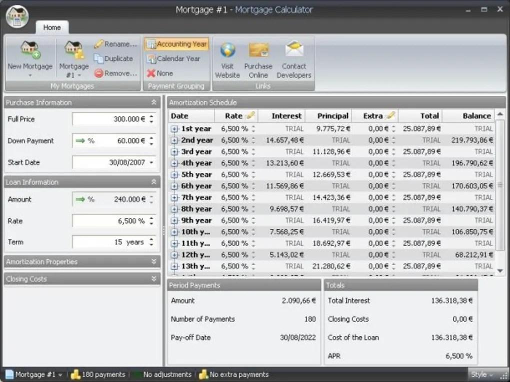 MoneyGreen Mortgage Calculator - Download