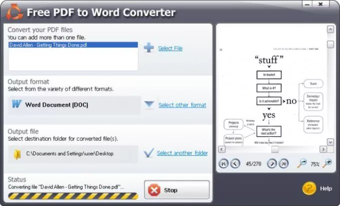 SmartSoft Free PDF to Word Converter - Download - Convert File To Pdf