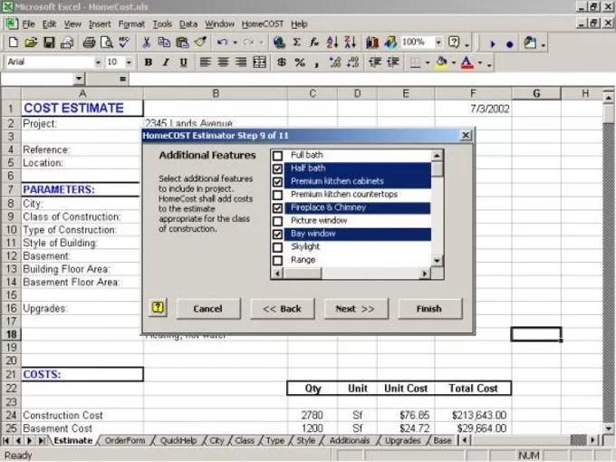 HomeCOST Estimator for Excel - Download