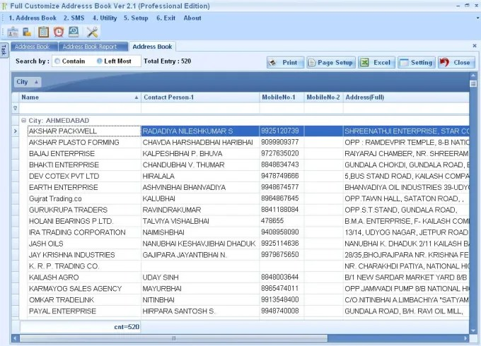 Full Customize Address Book - Download - software for address book