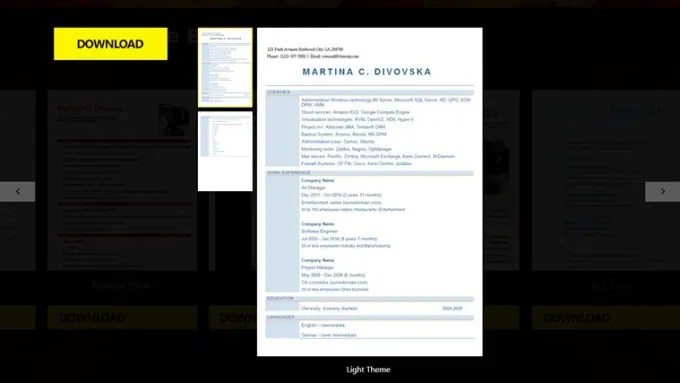 CV Resume Builder - Download
