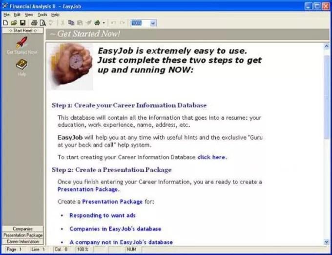 EasyJob Resume Builder - Download - resume builder program