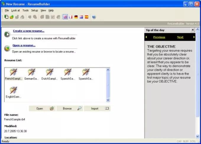 Resume Builder - Download - Resume Builder Software Download