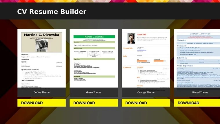 resume cv maker - Josemulinohouse - Best Free Online Resume Builder