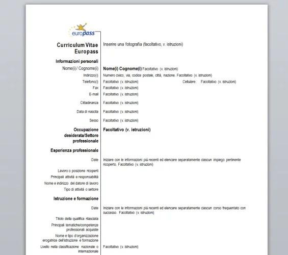 Curriculum Vitae Europass - Download - europass curriculum vitae