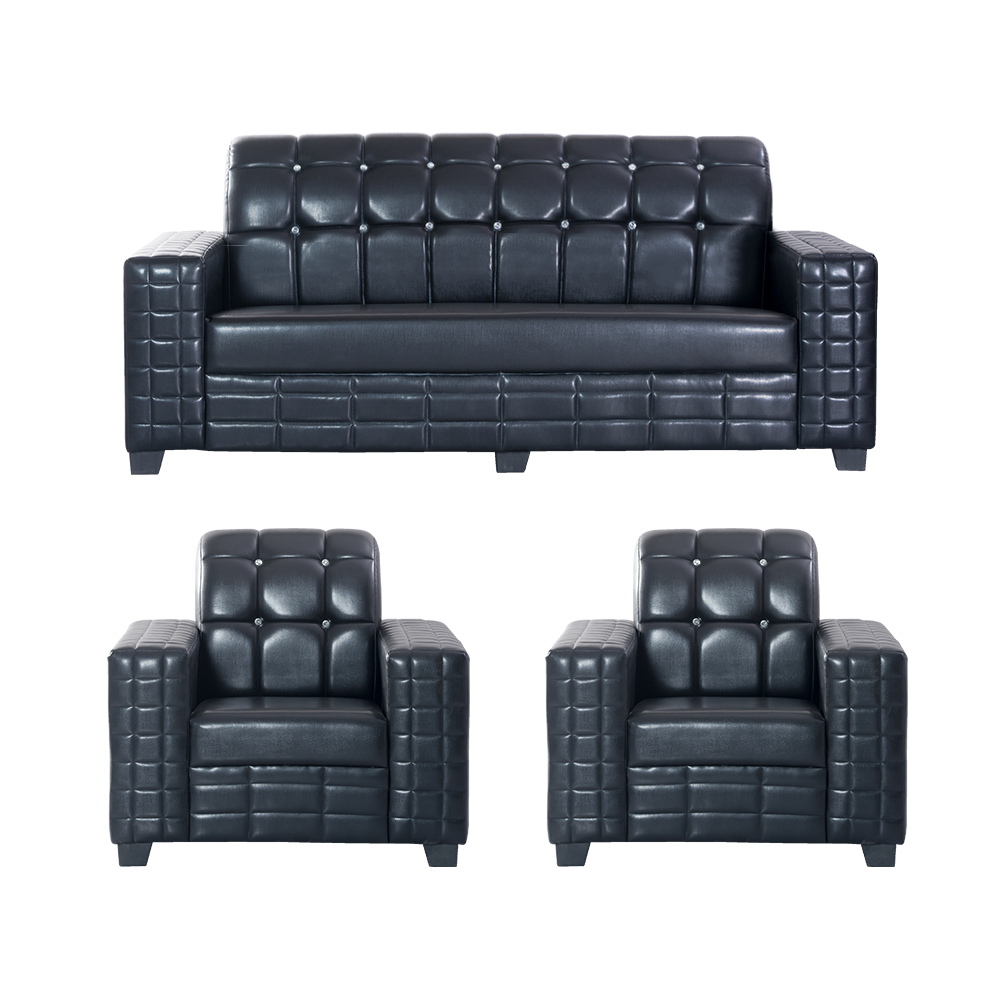 Sofa Set Online Bharat Lifestyle Black Diamond Fabric 3 1 1 Black Sofa Set